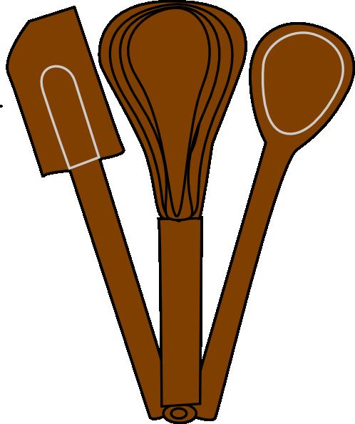 Brown Baking Utensils Clip Art at Clker.com - vector clip ...
