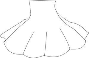 Skirt Outline Clip Art at Clker.com - vector clip art ...