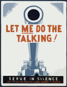 Let Me Do The Talking! Serve In Silence / Homer Ansley. Clip Art