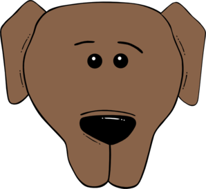 Cartoon Dog Head Clip Art