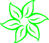 Lime Green Flower Outline Clip Art