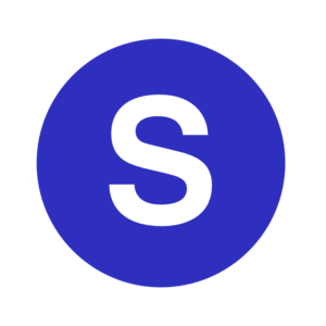 Letter S In A Cercle Blue Clip Art
