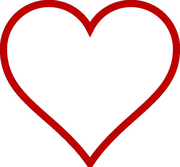 Red Outline Heart Clip Art at Clker.com - vector clip art ...