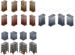 Isometric Cabinet Clip Art