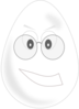 Egghead With Glasses Clip Art