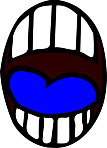 Mouth - Open - Blue Tounge Clip Art