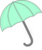 Mint Green Umbrella Clip Art