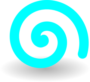 Turquoise Spiral Clip Art