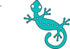 Turquoise Gecko Clip Art