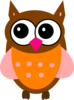 One Pink Owl Clip Art