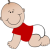 Baby Boy Bay With Red Shirt Clip Art
