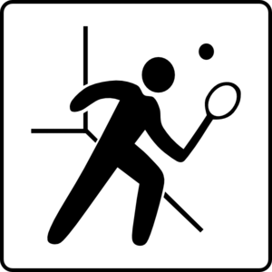 Hotel Icon Has Squash Court Clip Art