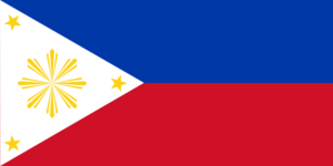 Philippine Flag Vector Template Clip Art