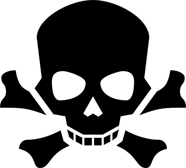 Skull And Crossbones Clip Art at Clker.com - vector clip art online ...