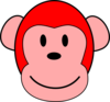 Red Monkey Clip Art