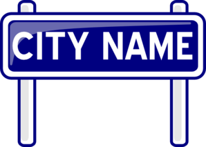 City Nameplate Clip Art