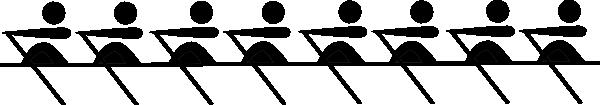 8 Rowers Red Clip Art at Clker.com - vector clip art ...