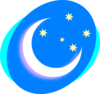 Crescent With Stars Clip Art