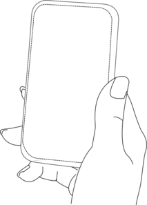 Hand Holding A Phon Clip Art