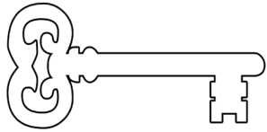 Key Outline Clip Art