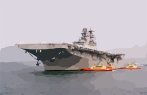 Uss Bonhomme Richard (lhd 6) Returns To Her Homeport Of Naval Station San Diego. Clip Art