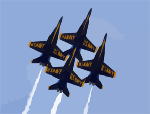 Blue Angels Formation Clip Art