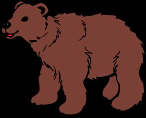 brown bear clip art at clker com vector clip art online royalty rh clker com bear clip art silhouette bear clipart free