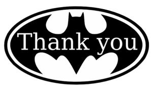 Thank you batman 2 clip art at clker vector clip art online thank you batman 2 clip art voltagebd Gallery