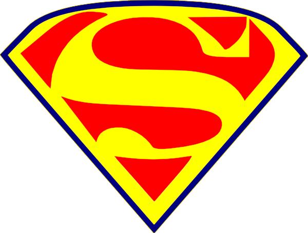 yellow superman s clip art at clker com vector clip art online
