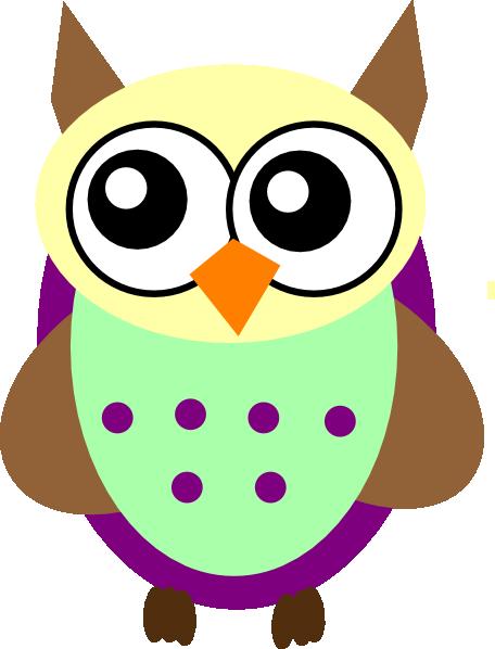 Purple Green Brown Owl Clip Art at Clker.com - vector clip ...