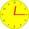 Clock At Twelve Fifteen Clip Art