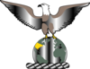 Eagle Over Globe Clip Art