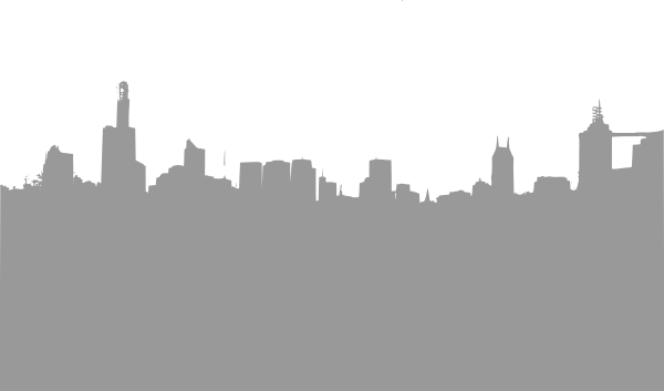 Gray City Skyline Clip Art at Clker.com