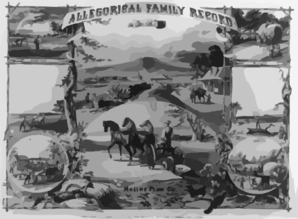Allegorical Family Record Clip Art