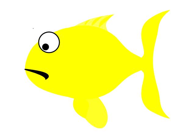 Yellow Fish Clip Art Yellow Sad Fish Clip A...