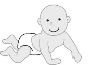 Crawling Infant Clip Art
