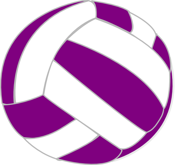Volleyball purple. And white clip art