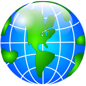 Globe Green Continents  Clip Art