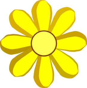 yellow spring flower clip art at clker com vector clip art online rh clker com yellow bell flower clipart black and white yellow flower clip art free