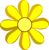 Yellow Spring Flower Clip Art
