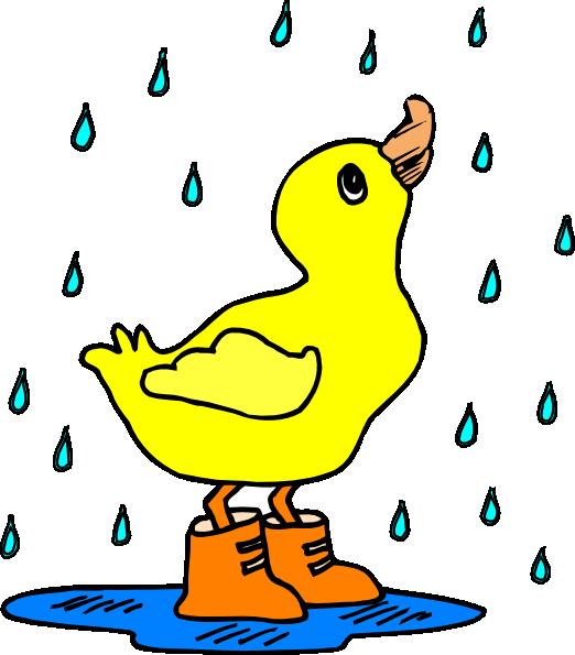 Duck In The Rain Clip Art At Clker Com Vector Clip Art