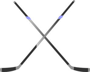 Double Hockey Stick Clip Art