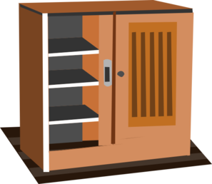 Cabinet clip art at vector clip art online for Cartoon kitchen cabinets