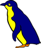 Penguin Blue And Yellow Clip Art
