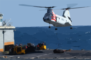 Ch-46 Sea Knight Helicopter. Clip Art