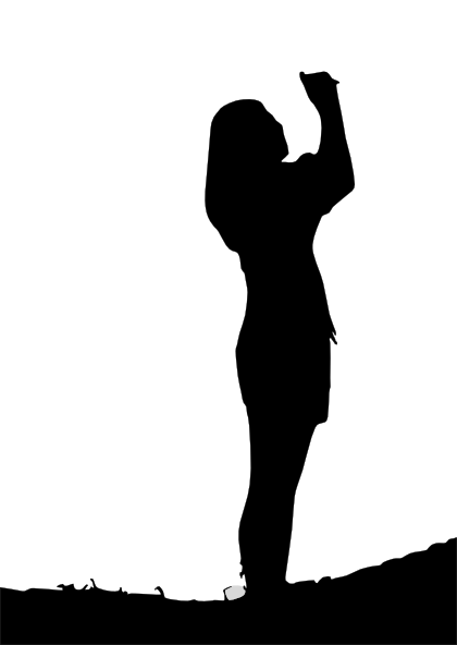 Woman Silhouette Clip Art at Clker.com - vector clip art online ...
