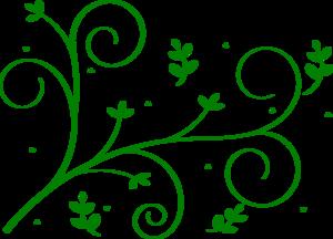 Green Floral Vine Clip Art at Clker.com - vector clip art online ...