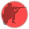 Soldier Inf Red 1 Clip Art