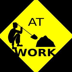 Men At Work Black & Yellow Sign Clip Art at Clker.com ...