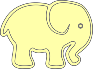 Elephantimage Yellow Clip Art